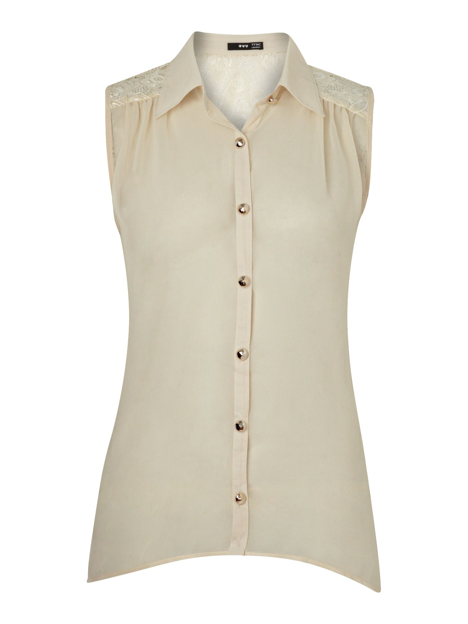 tfnc Womens tfnc Sleeveless blouse, Cream product image