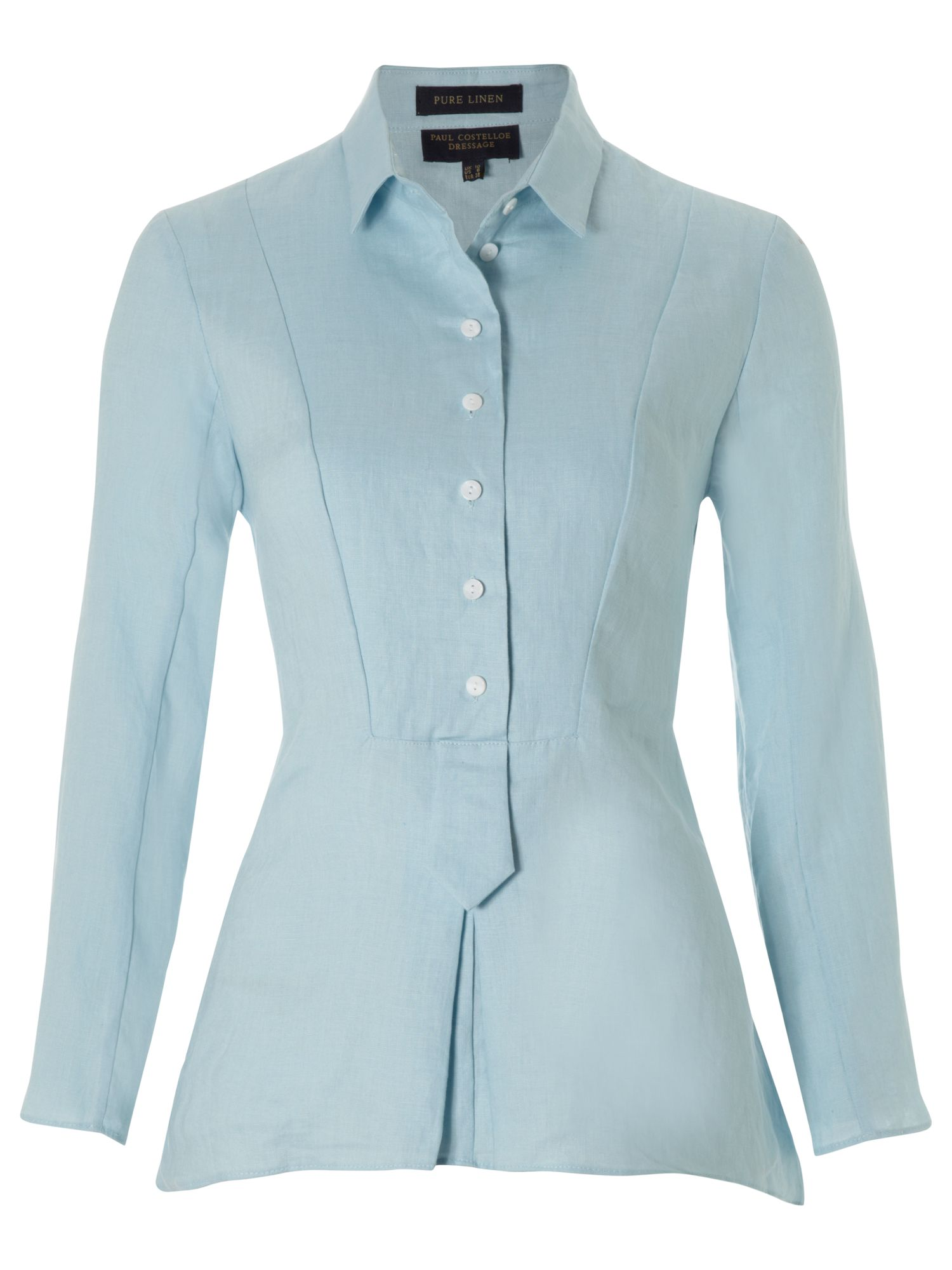 Paul Costelloe Plaquet front blouse - Sky Blue 10,10,14,14,12,12 product image
