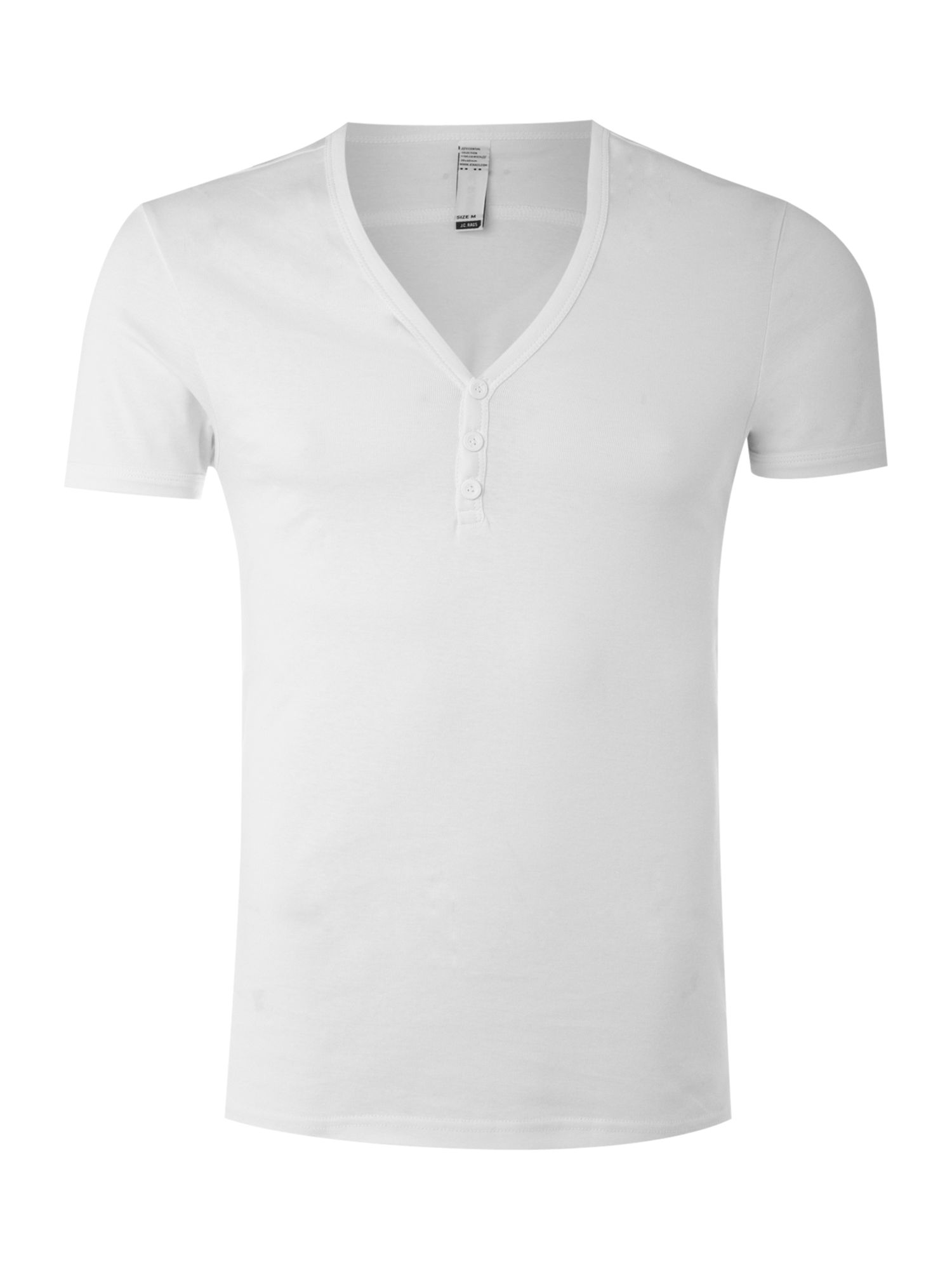 JC Rags V-neck button T-shirt - White product image