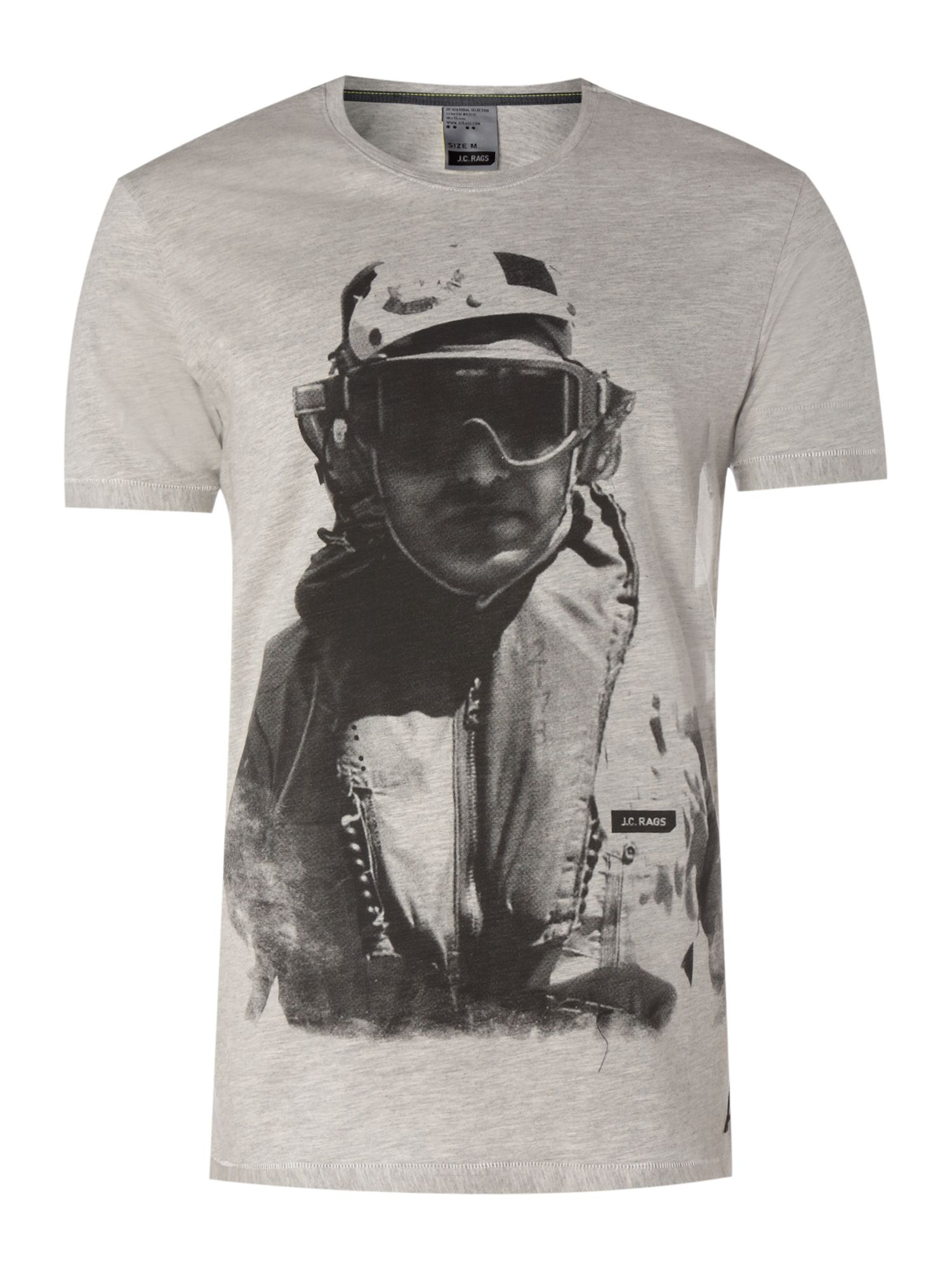 JC Rags Graphic flight T-shirt - Grey product image