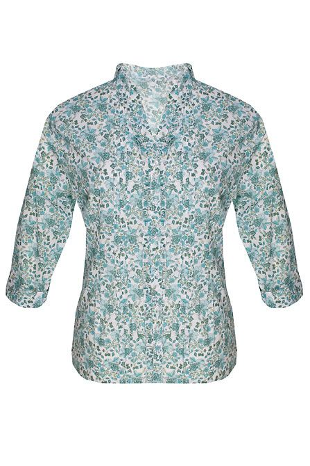 Dash Printed blouse - Aqua 22,22,12,12,16,16 product image
