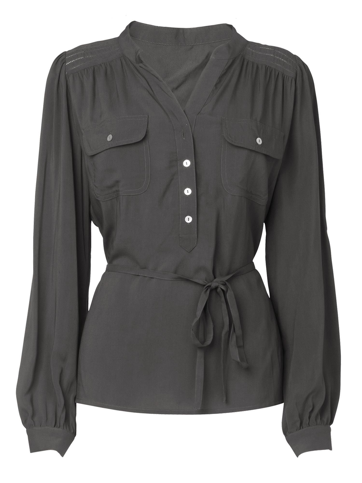 Phase Eight Womens Phase Eight Pocket blouse, Grey product image
