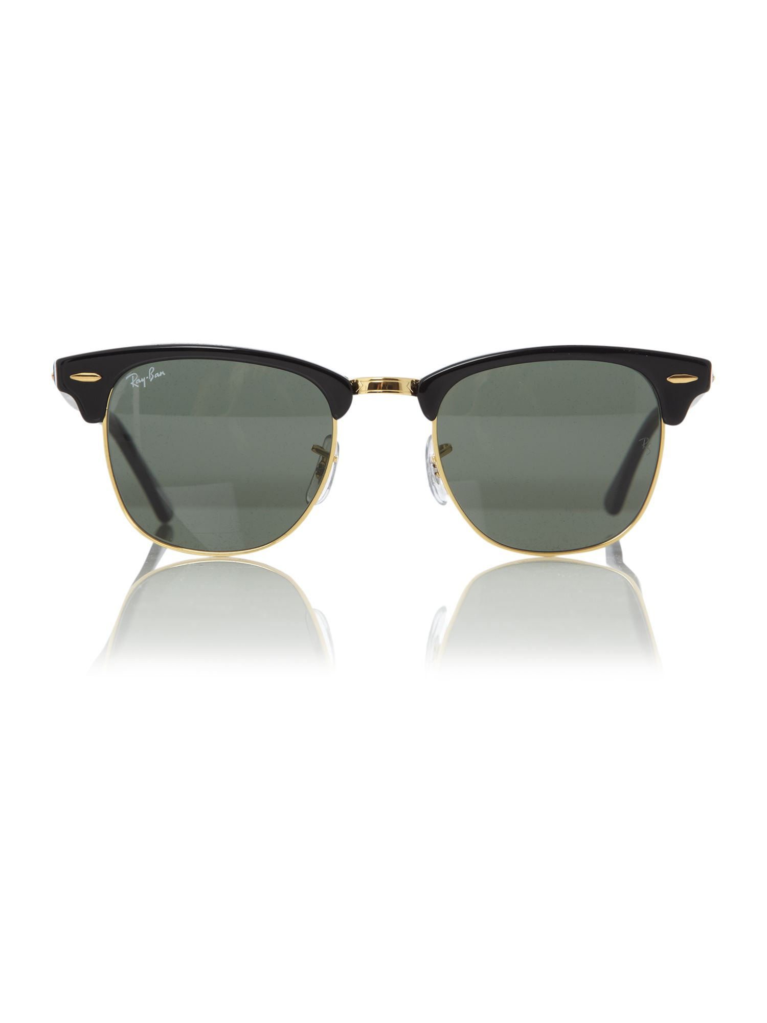 Unisex RB3016 Ebony/Arista Clubmaster Sunglasses