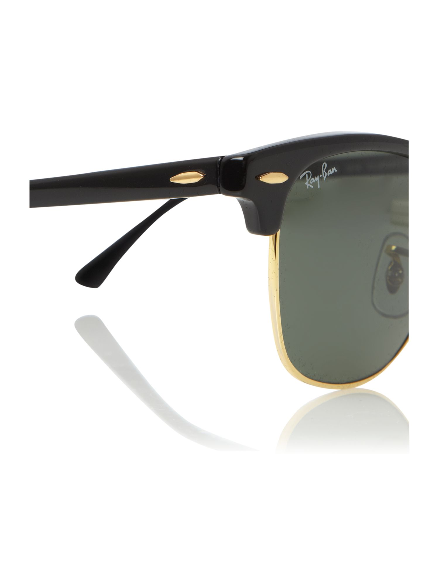 ray ban rb3016  Ray Ban Clubmaster Rb3016 W0365 Large Ebony Arista