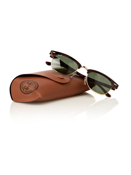 Ray-Ban Mens RB3016 Tortoise/Arista Clubmaster Sunglasses