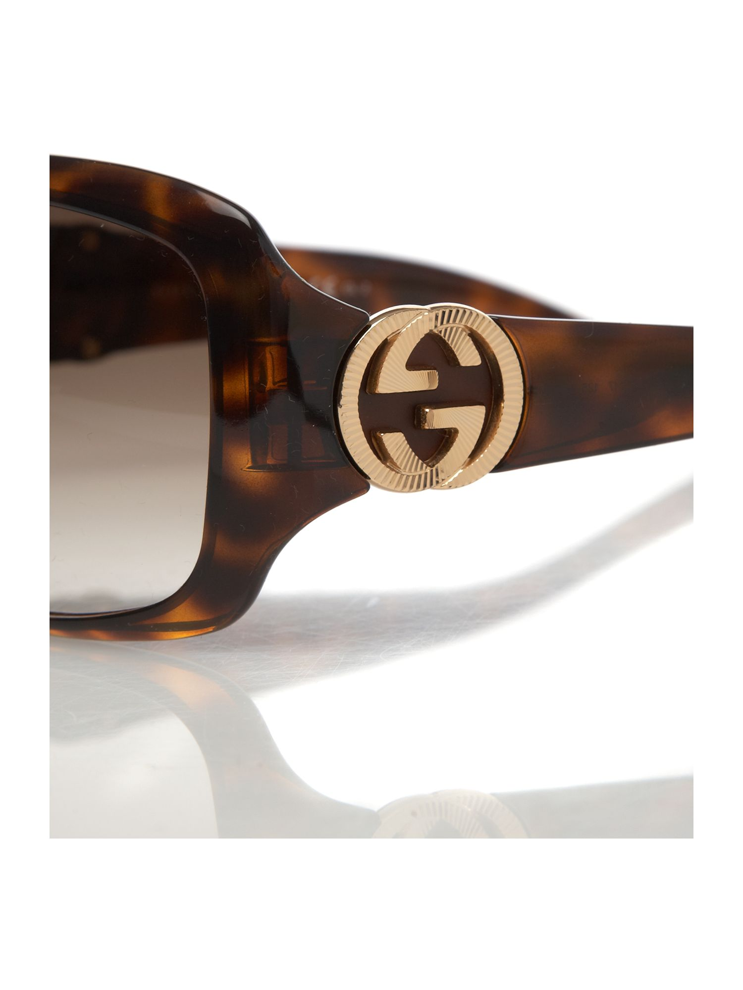 Ladies GG2163/S Brown Square Sunglasses