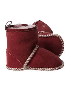 Embroidered sheepskin boot