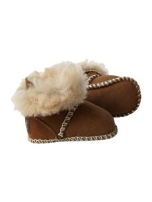 Tie back sheepskin boot