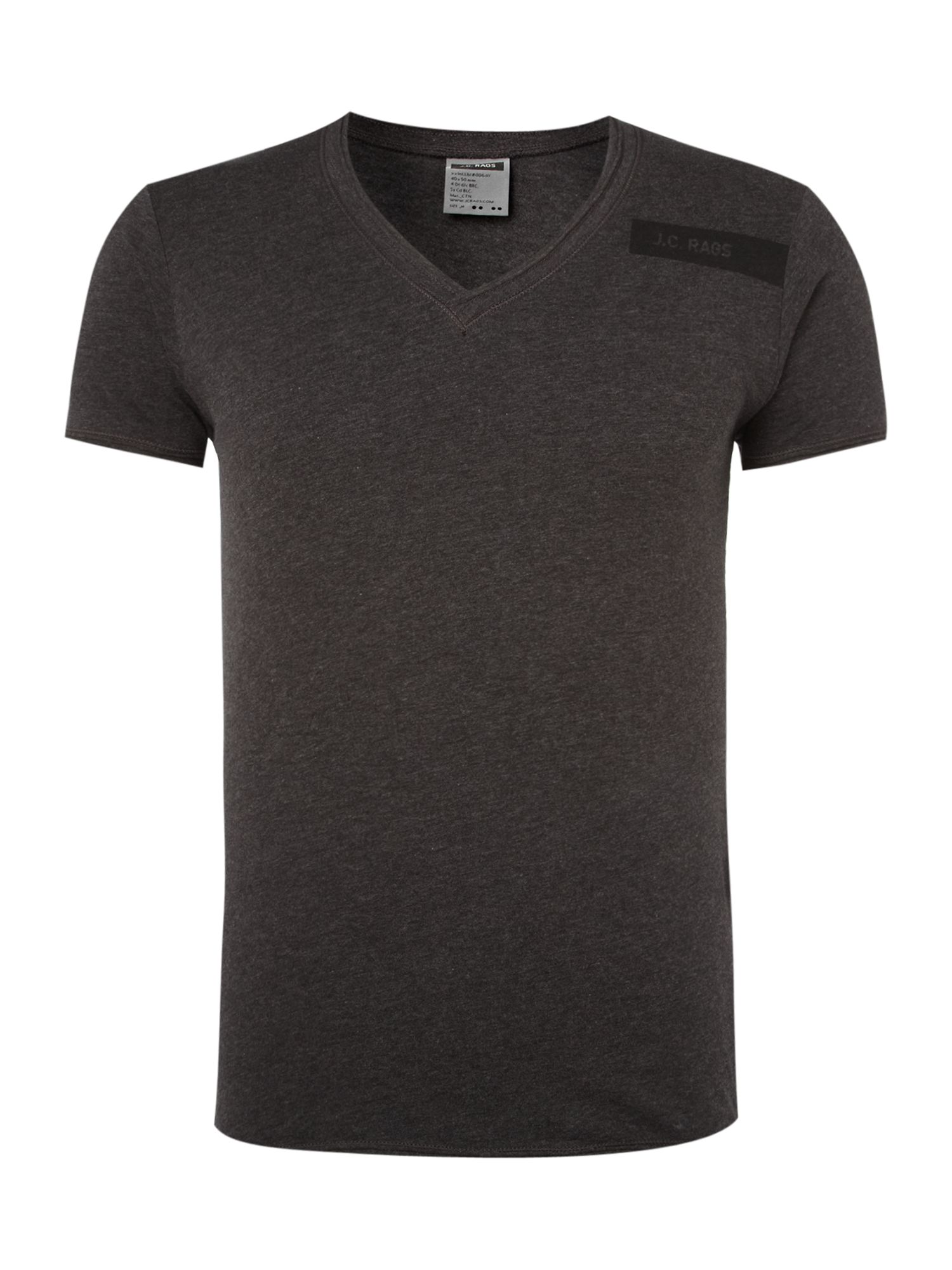 JC Rags Washed V-neck T-shirt - Grey product image