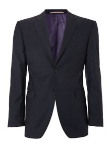 Howick Tailored Navy suit Twill pin and chalk stripe