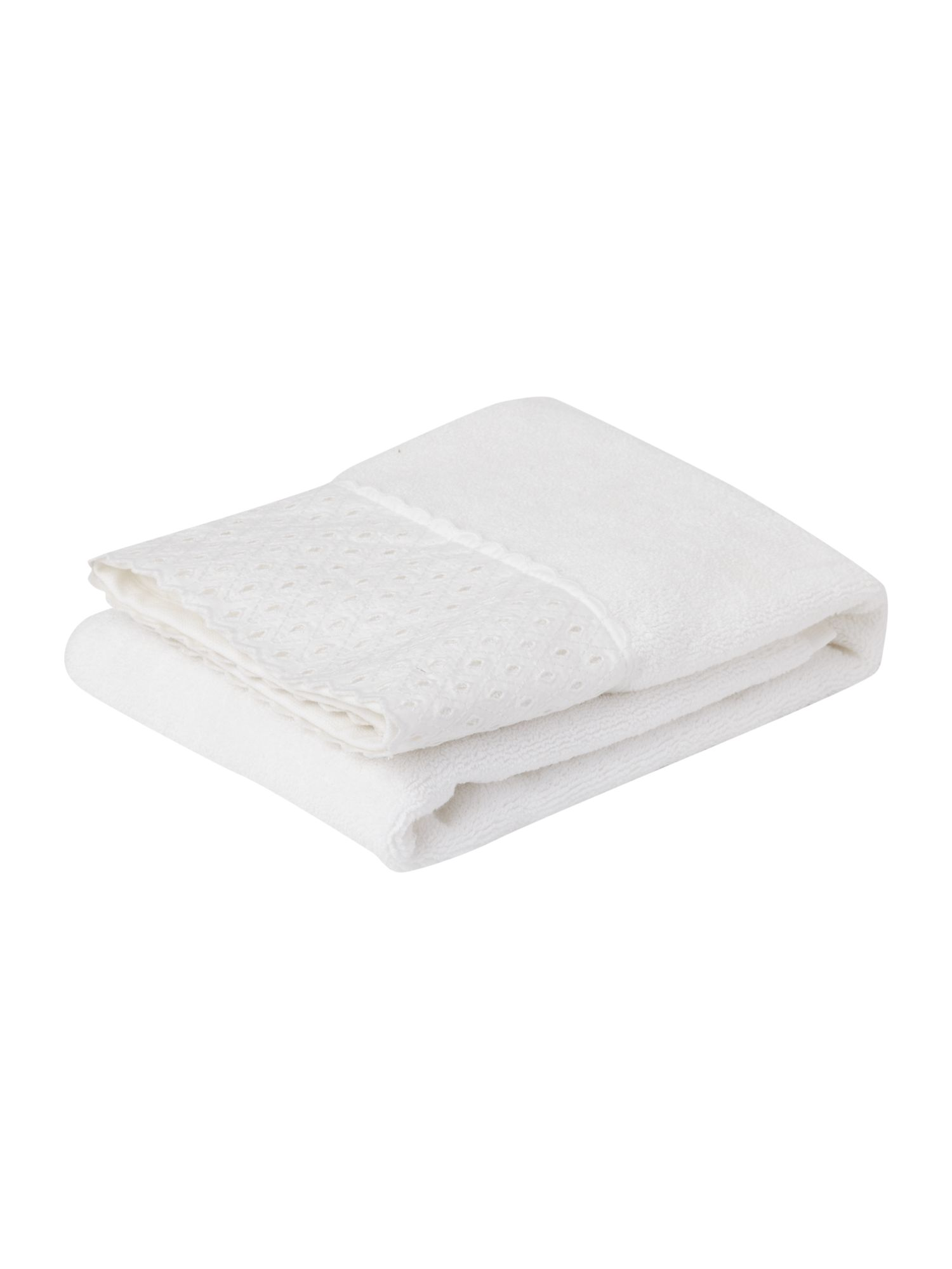 Set of 2 lace trimmed towels
