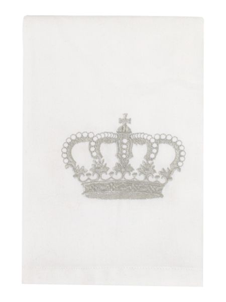Shabby Chic Crown embroidered napkin