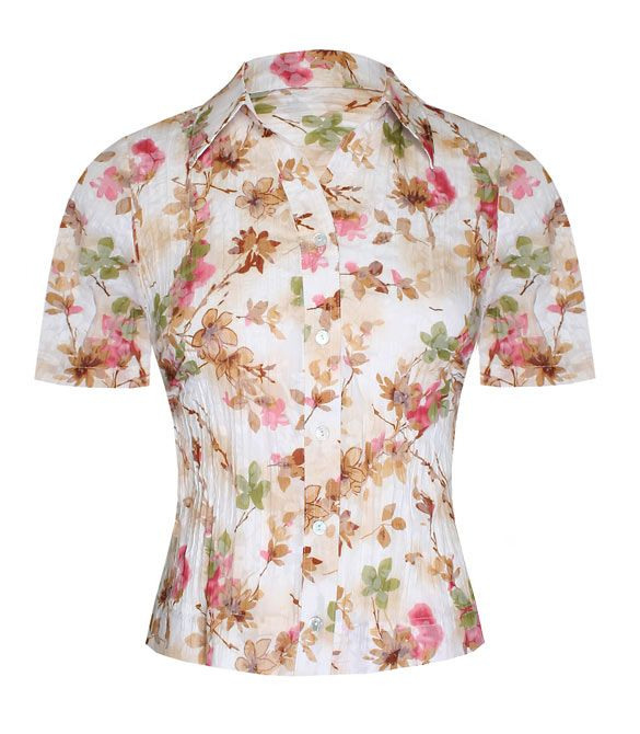 Eastex Short sleeve floral print blouse - White product image