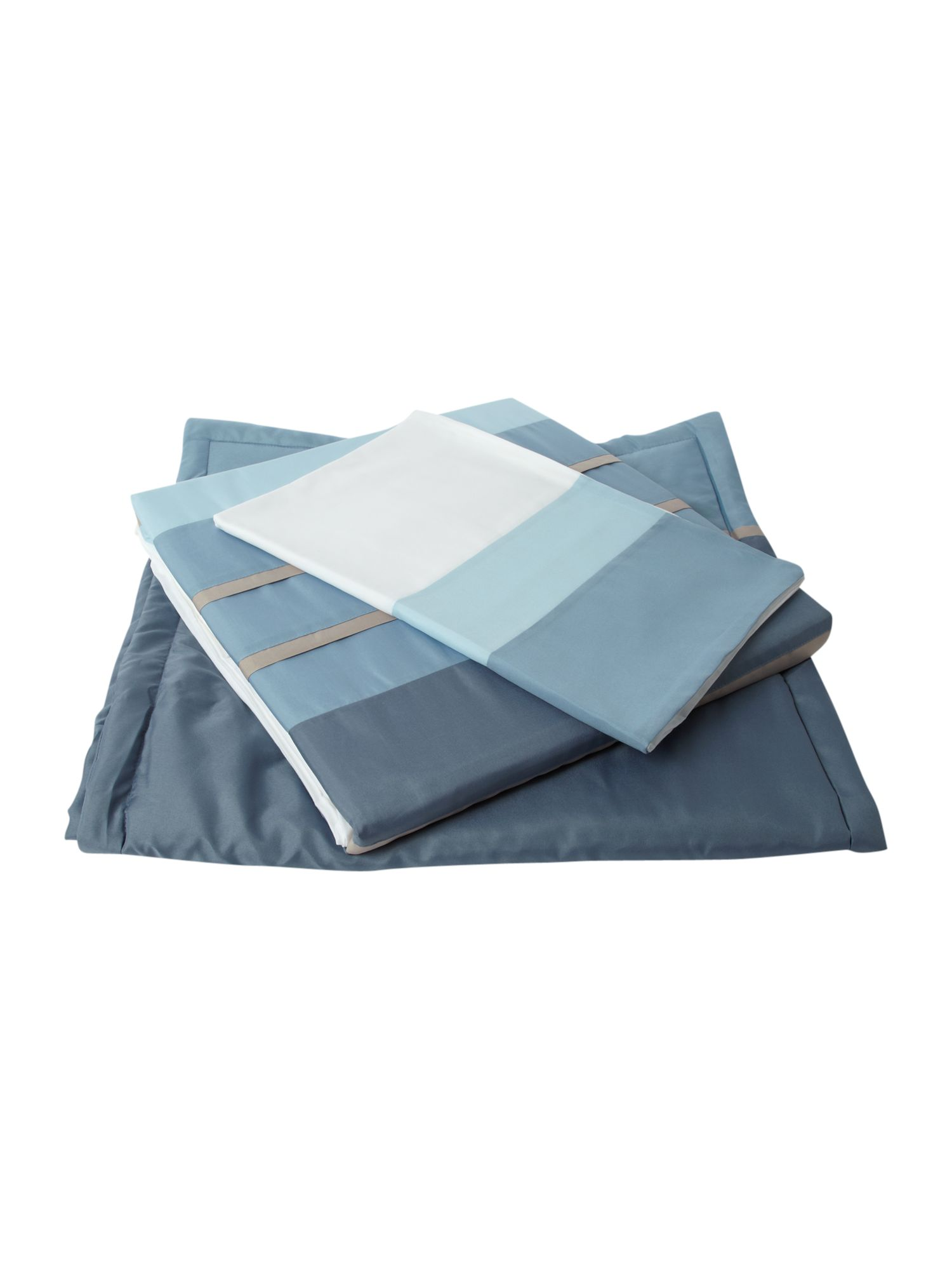 Tri band bed in a bag single duvet cover in blue