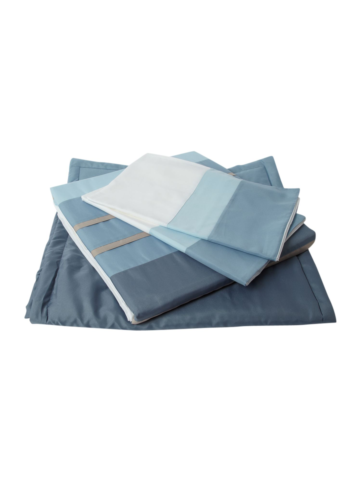 Tri band bed in a bag double duvet cover blue