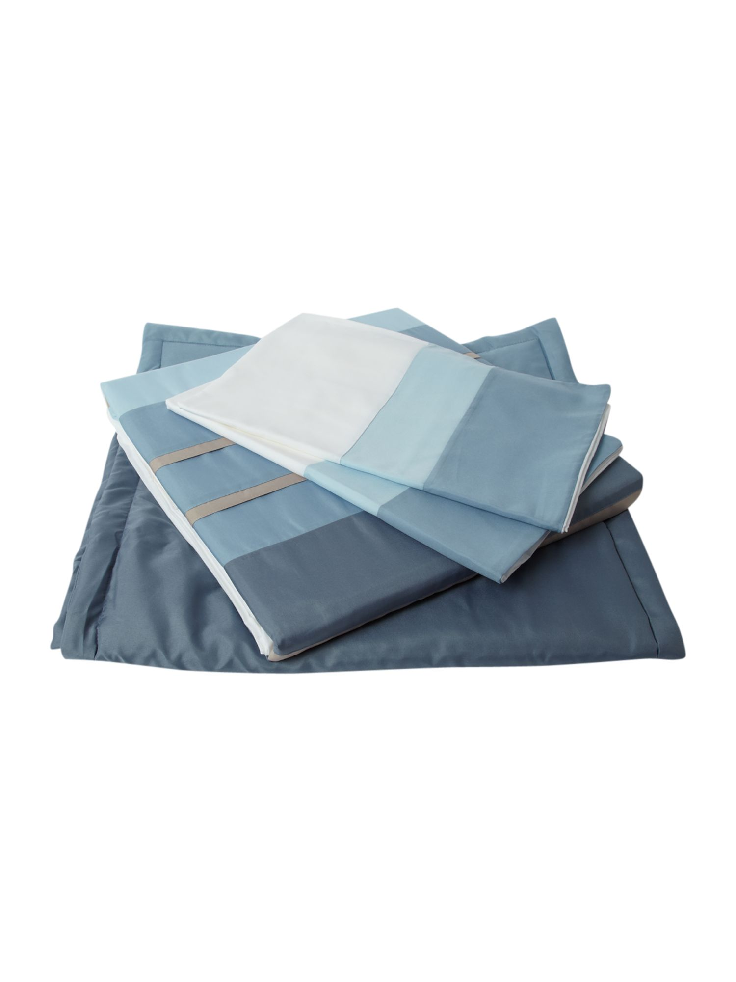 Tri band bed in a bag king duvet cover blue
