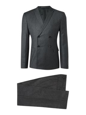 Hugo Boss Double Breasted Chalk Stripe Suit
