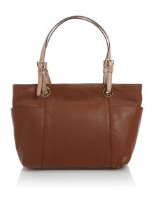 Jet set top zip tote bag
