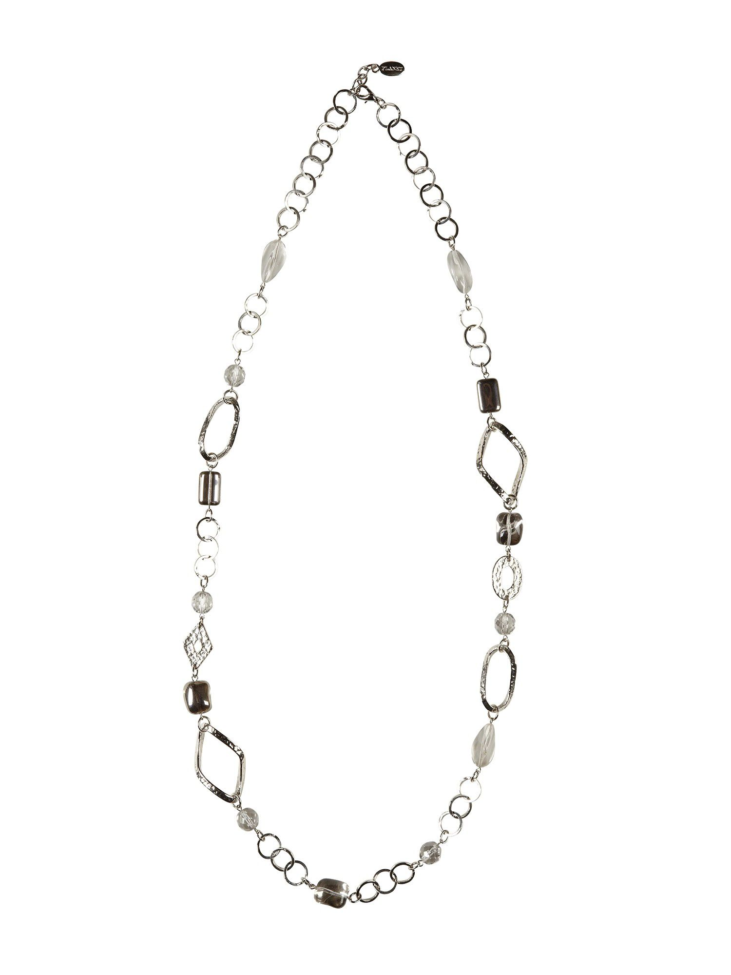 Planet Metal chain bead necklace