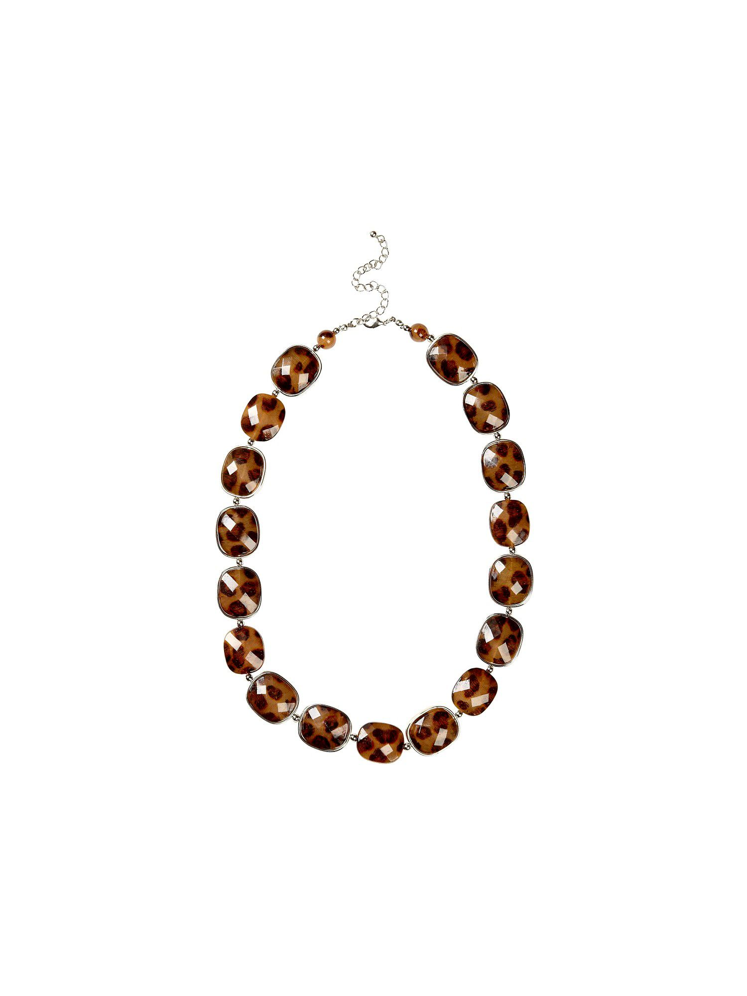 Jacques Vert Animal bead necklace, Brown