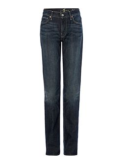 High-waist straight leg jeans in New York Dark