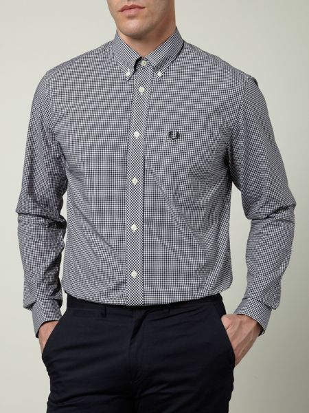 Fred Perry Long-sleeved gingham shirt