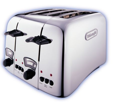 Delonghi Argento 4-Slice Toaster Chrome CT04.C