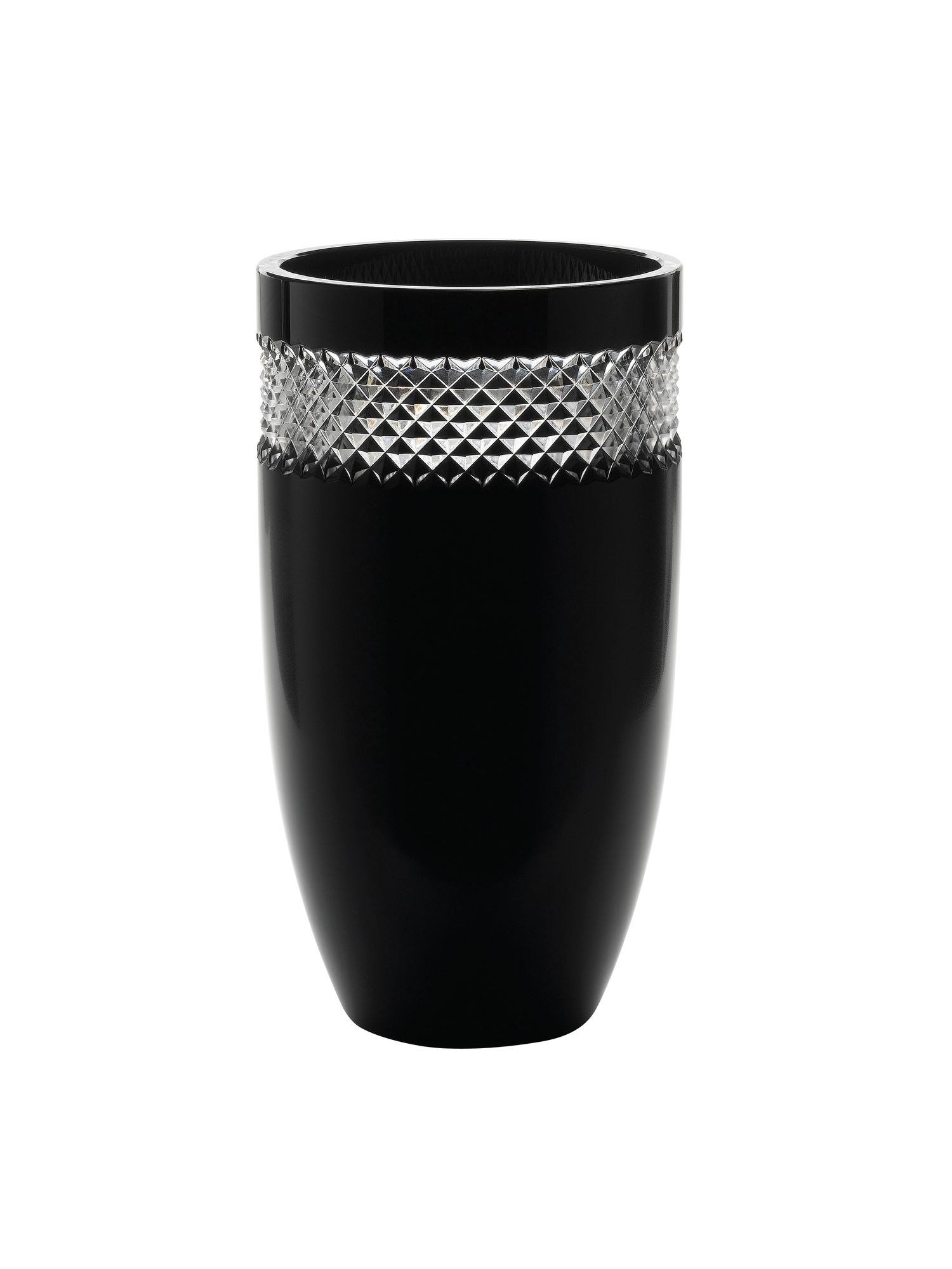 John rocha black cut  12.0 vase