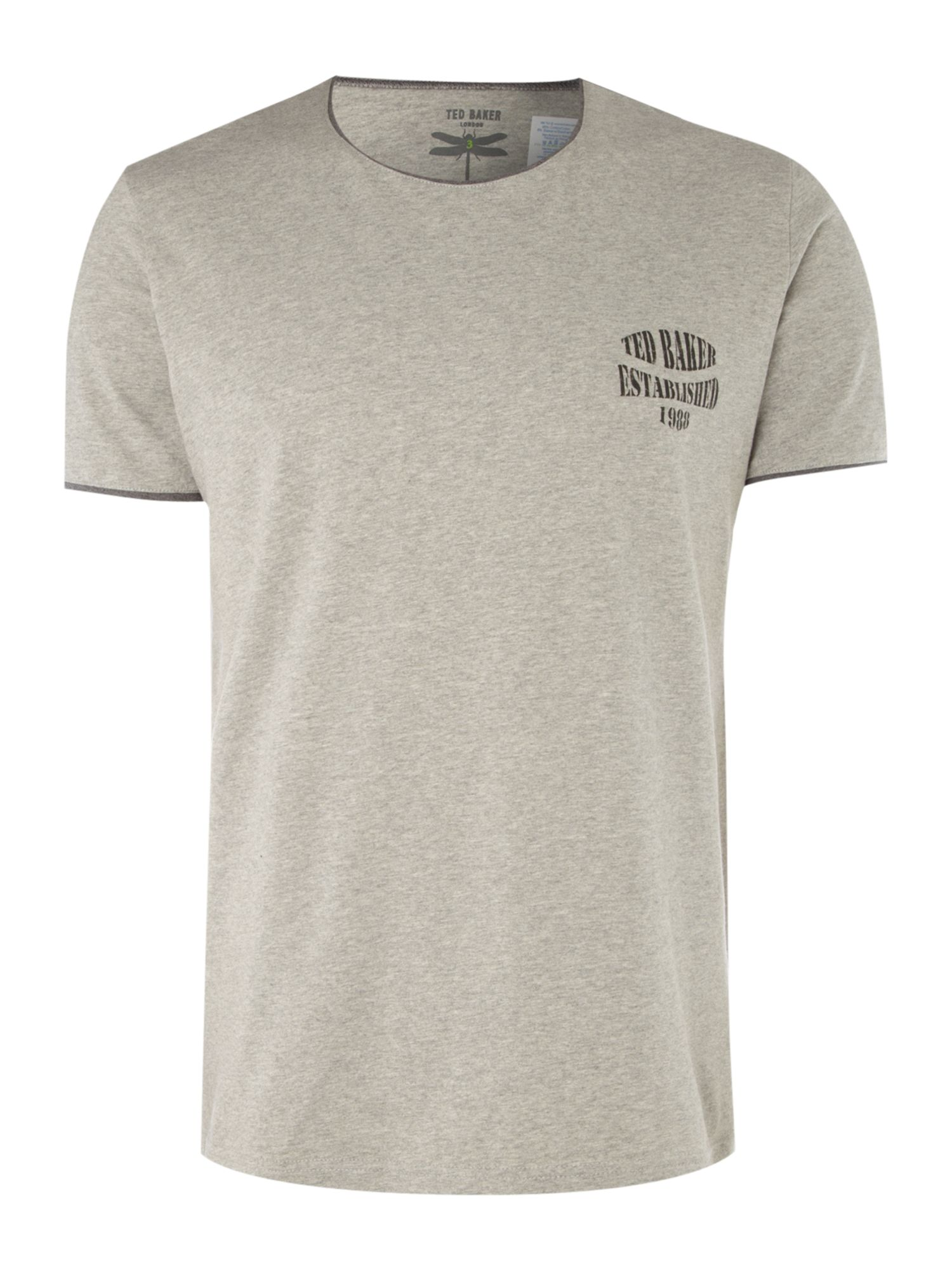 Ted Baker Mens Ted Baker Lounge t-shirt with trim product image