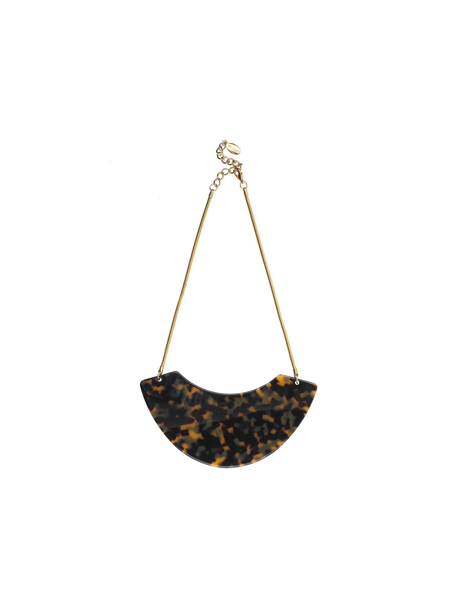 Planet Tortoiseshell bib necklace
