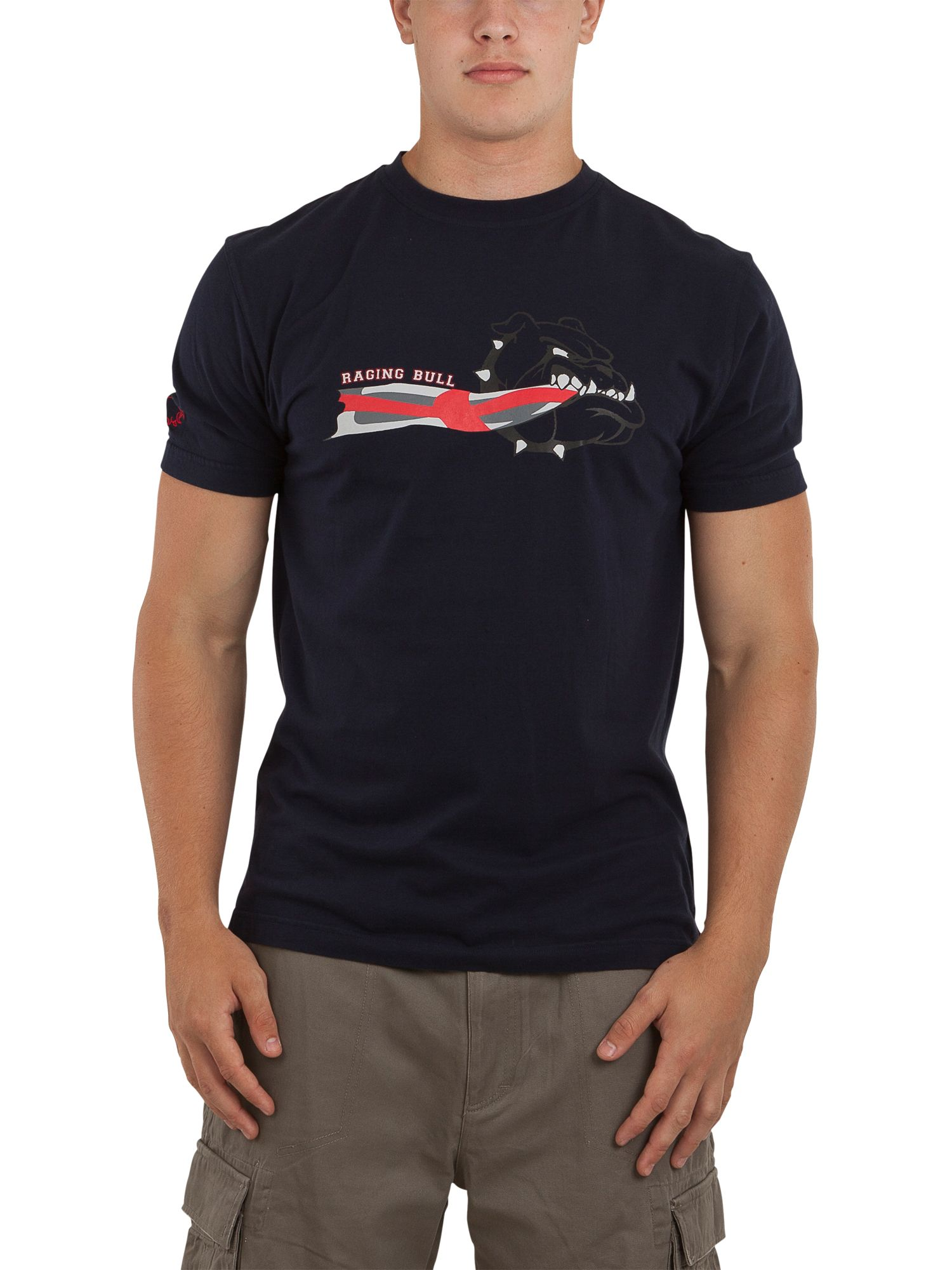 Raging Bull Mens Raging Bull Bull dog T-shirt, Navy product image