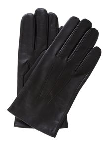 Leather glove with warm lining