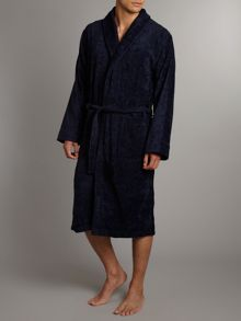 Plain shawl collar robe