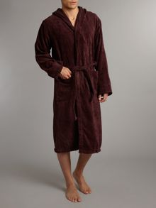 Plain hooded robe