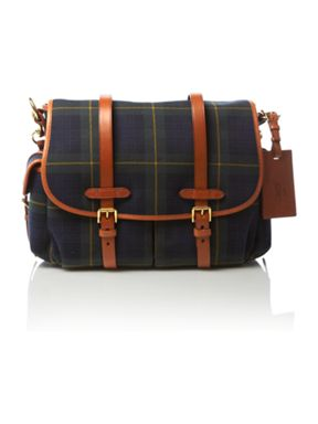 Ralph Lauren Tartan messenger bag