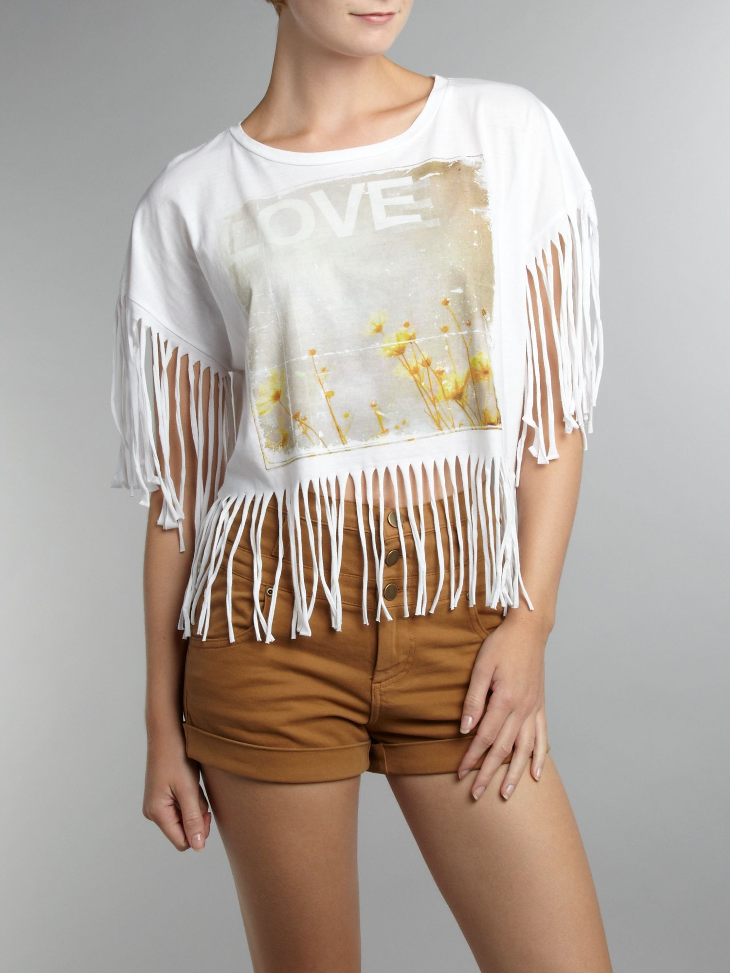Therapy Womens Therapy Printed fringe t-shirt, product image