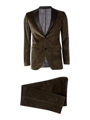 Kenzo Homme Single Breasted Velvet Dinner Suit