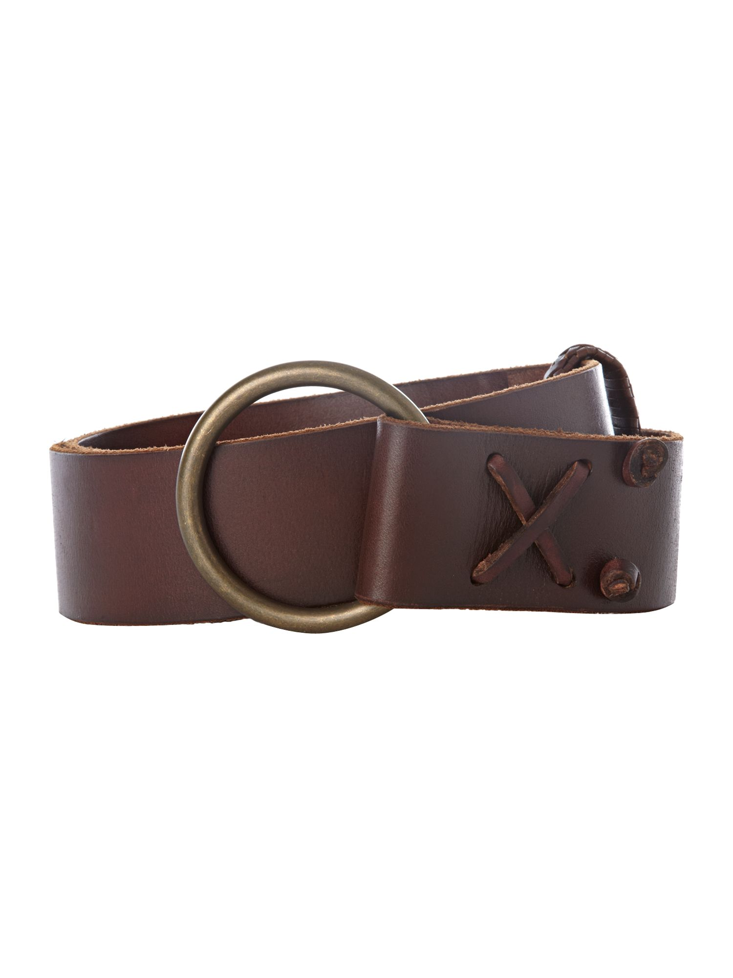 Leather belt with 0-ring