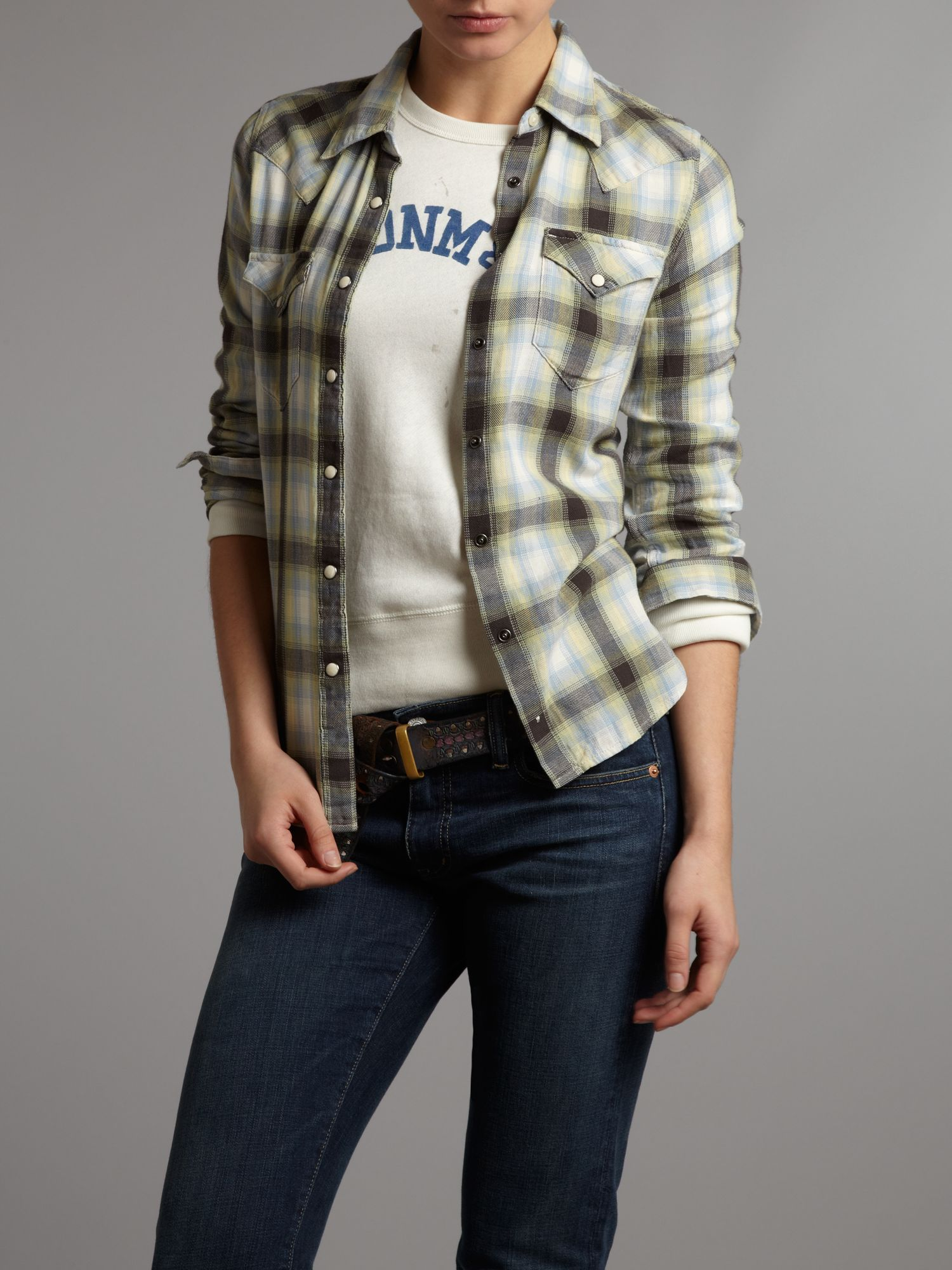 Cowgirl plaid shirt