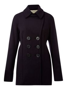 Three quarter length pea coat