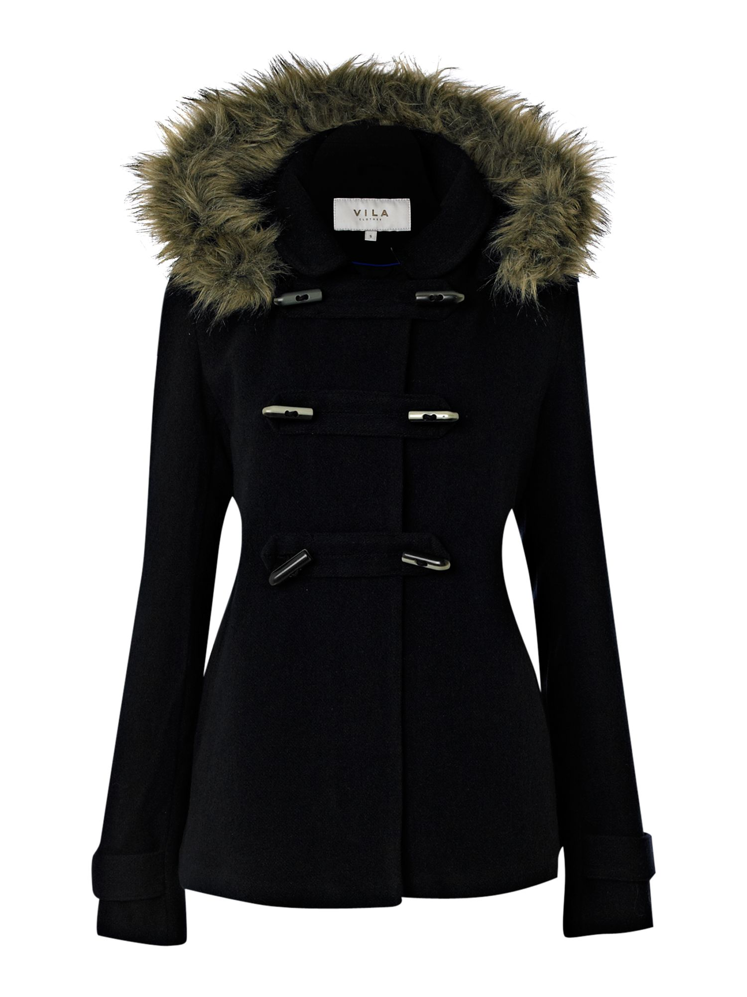 Cheap online clothing stores » Womens duffle coat with fur hood