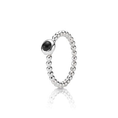 Onyx twist stacking ring