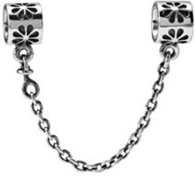 Sterling Silver Flower Safety Chain - 4cm