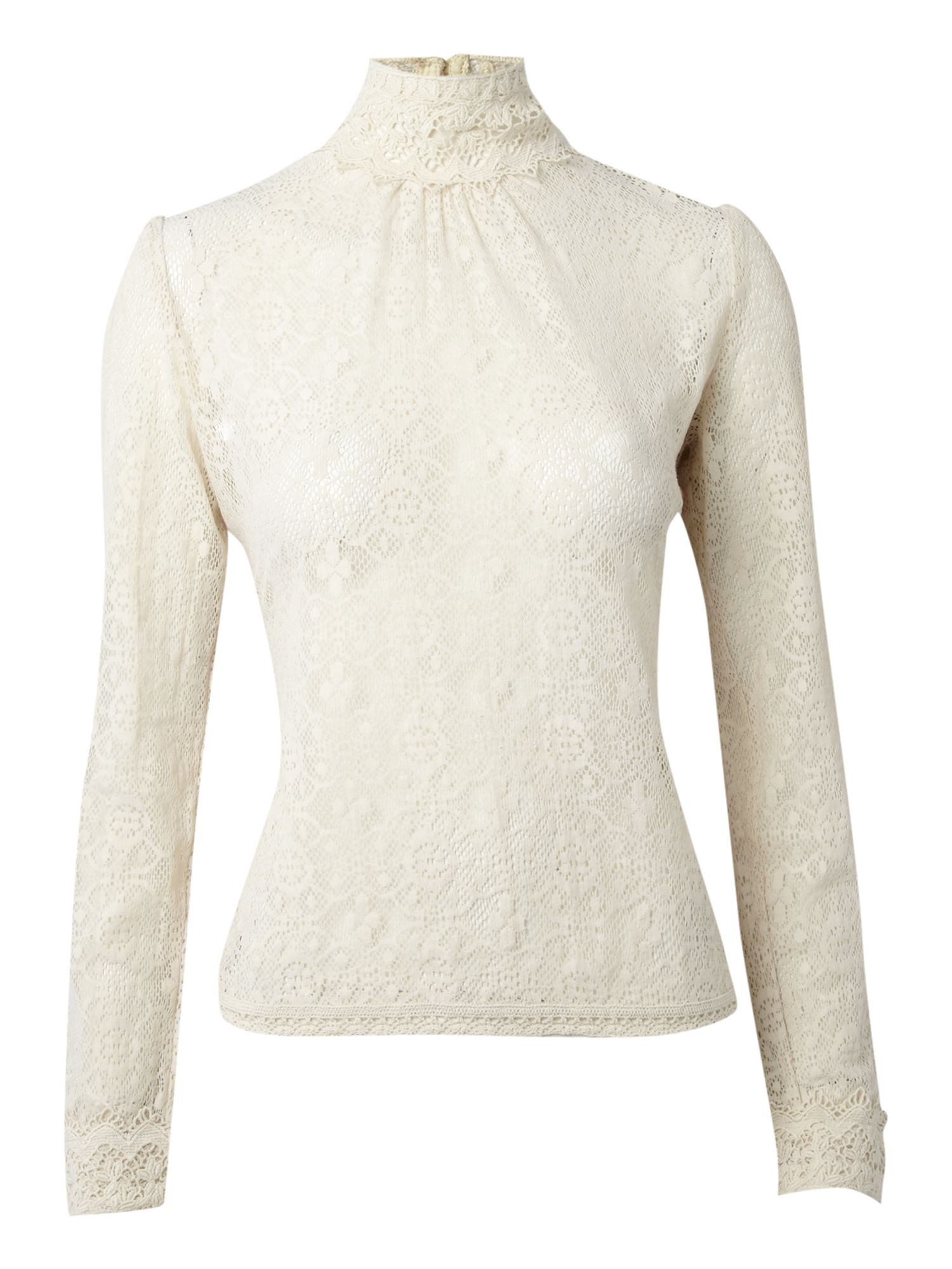 Therapy Womens Therapy High neck lace blouse, Cream product image