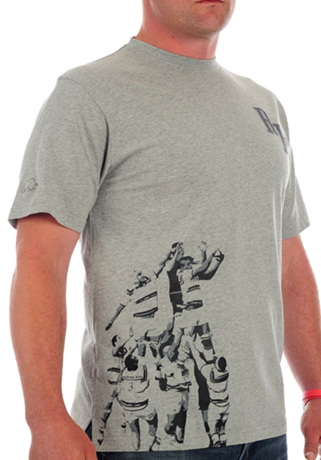 Raging Bull Line out T-shirt, Grey 155396847 product image