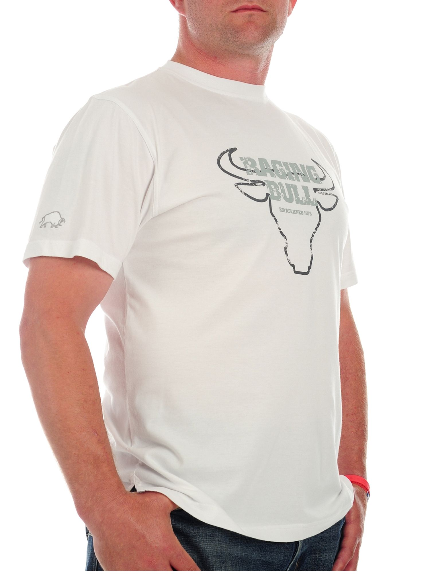Raging Bull Mens Raging Bull Bulls head T-shirt, White product image