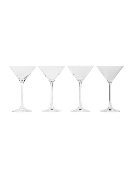 Pied a Terre Etched martini glasses set of 4