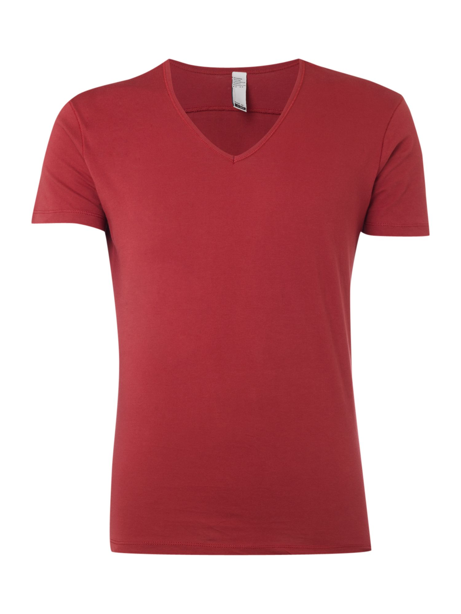 JC Rags Mens JC Rags Deep V-neck T-shirt, Burgundy product image