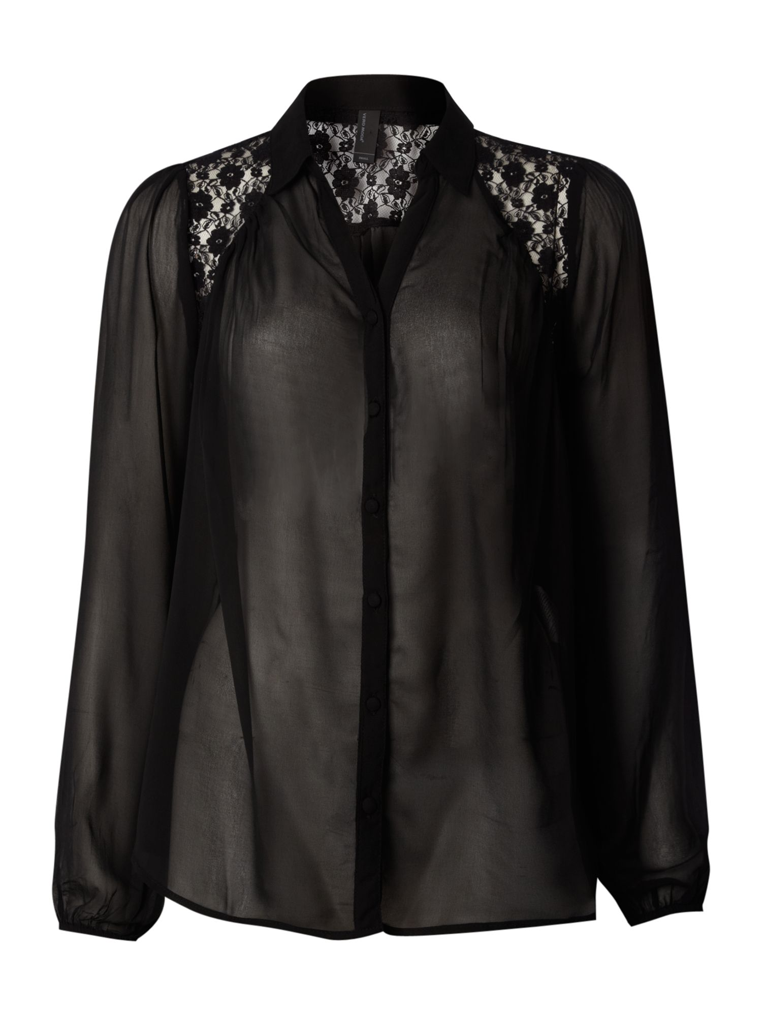 Vero Moda Womens Vero Moda Lace blouse, Black 155649240 product image