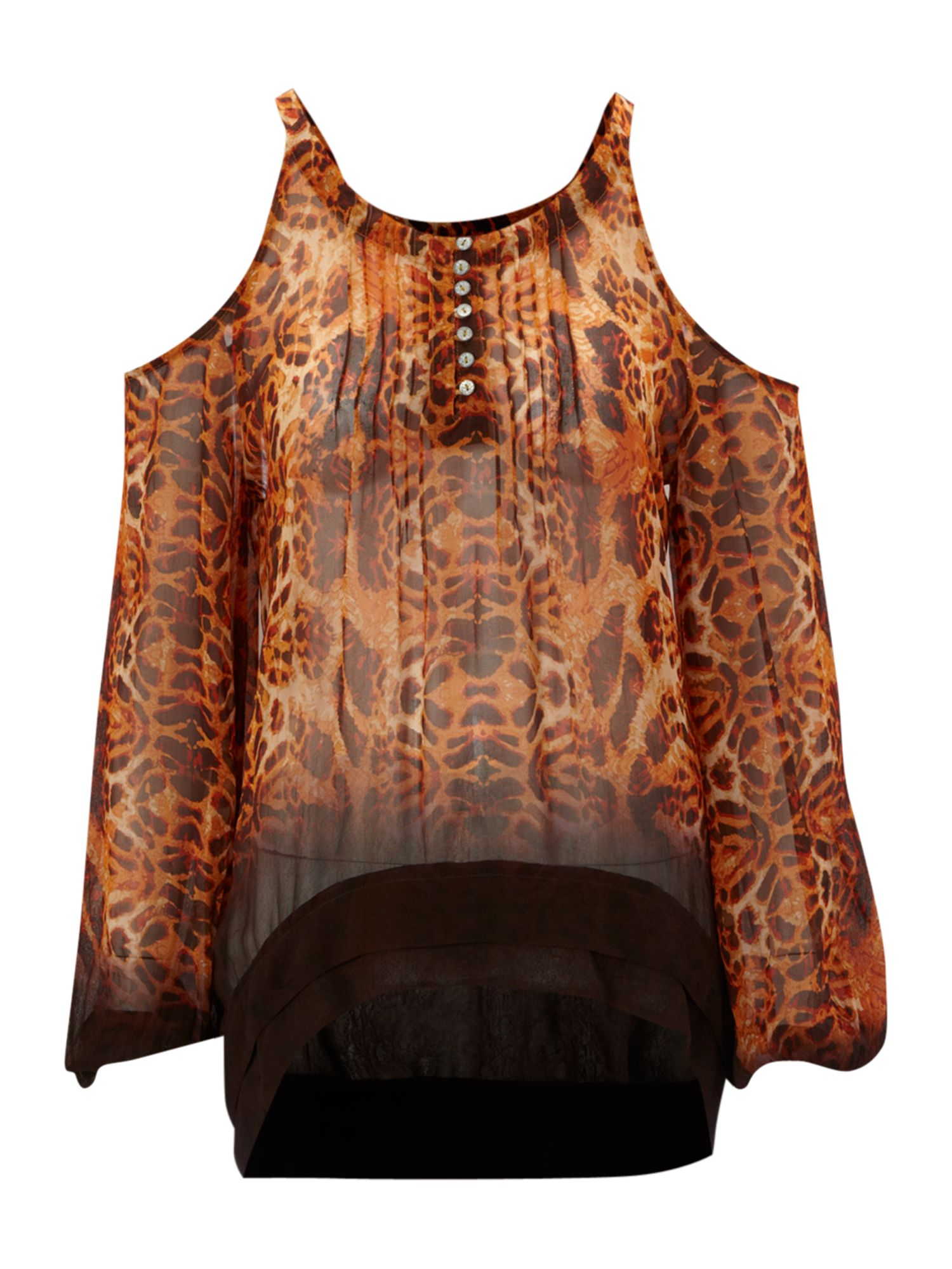 Label Lab Womens Label Lab Animal print blouse, product image